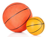 Basket balls, isolated on white — Stock Photo