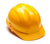 Yellow helmet isolated on white — Stockfoto