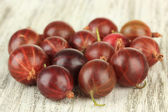 Fresh gooseberries on table close-up — Stock Photo