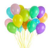 Färgglada ballonger isolerad på vit — Stockfoto