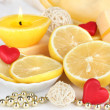 Romantic lighted candles close up — Stock Photo #30520641