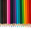Colour pencils isolated on white — Stock Photo