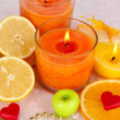 Romantic lighted candles close up — Stock Photo #30566975