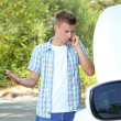 Mcalling repair service after car breakdown — Stock Photo #30567919