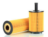 Car oil filters isolated on white — Stock Photo