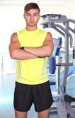 Guy in gym — Stock Photo