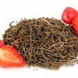 Stock Photo: Berry dry tea isolated on white