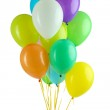 Colorful balloons isolated on white — Stock Photo #30673799