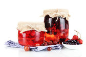 Ev yapımı berry reçeli beyaz izole — Stok fotoğraf