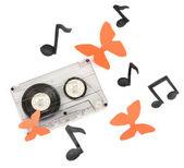 Gamla kassett isolerad på vit — Stockfoto