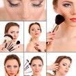 Stock Photo: Beautiful make-up collage