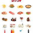 Collage of different unhealthy food — Stock Photo #30868803