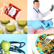 Collage of medical images — Stock Photo