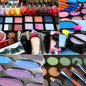 Collage of cosmetic — Stock Photo