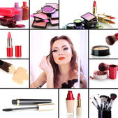 Collage of make-up — Stock Photo