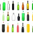 Collage of different bottles of liquids — Stock Photo #30870031