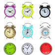 Stock Photo: Collage of different clocks