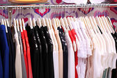 Clothes in shop, close up — Stock Photo
