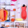 Women wardrobe in sunny colors — Stock Photo #30884707