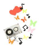 Stare kasety na białym tle — Zdjęcie stockowe