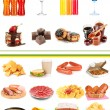 Foto de Stock  : Collage of different unhealthy food