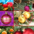 Collage of Christmas decorations — 图库照片