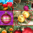 Collage of Christmas decorations — Stock fotografie #30930555