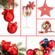 Collage of Christmas decorations — Stock fotografie #30930697