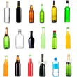 Collage of different bottles of liquids — Stock Photo #30930977