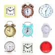 Collage of different clocks — Stock Photo #30934987