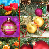 Collage of Christmas decorations — Foto Stock
