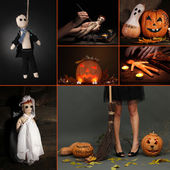 Collage of Halloween — Stock Photo