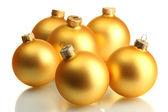 Beautiful christmas balls, isolated on white — Stock Photo