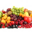 Fresh fruits and berries isolated on white — Stock Photo #31103439