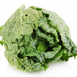 Fresh savoy cabbage isolated on white — Stock Photo #31106839