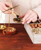 Försäljning av te, kaffe och olika kryddor — Stockfoto