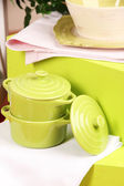 Tableware and decor, on bright background, close-up — Stock Photo