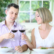 Beautiful couple having romantic dinner at restaurant — Stock Photo #31123891
