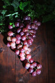 成熟的紫葡萄上木表特写 — 图库照片