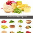 Products containing iron — Stock Photo