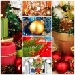 Stock Photo: Collage of christmas time and decorations