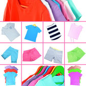 Collage of sportswear — Stock Photo