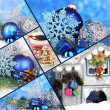 Collage of Christmas time and decorations — Stock Photo #31274255