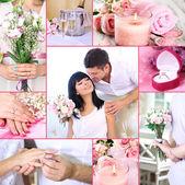 Collage av bröllop — Stockfoto