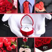 Düğün kolaj — Stok fotoğraf