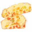 Stock Photo: Biscotti with candied fruits, isolated on white