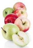 孤立在白色的甜苹果 — 图库照片