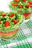 Tasty salad with fresh vegetables — Stock Photo