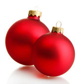 Beautiful christmas balls, isolated on white — Stock Photo