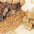 Different types of sugar close-up — Stockfoto #31522253